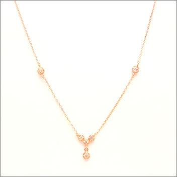 【即日発送可!アンティークデザインが素敵です♪】 K18ピンクゴールド ダイヤモンド ペンダント PNPG045SAGE