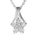 【全石ハート&キューピットダイヤ使用!ピンクゴールドもあります。】 K18ホワイトゴールド ダイヤモンドペンダント JS353484