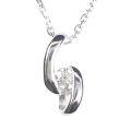 【全石ハート&キューピットダイヤ使用!ピンクゴールドもあります。】 K18ホワイトゴールド ダイヤモンドペンダント JS353495