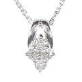 【全石ハート&キューピットダイヤ使用!ピンクゴールドもあります。】 K18ホワイトゴールド ダイヤモンドペンダント JS354146
