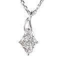 【全石ハート&キューピットダイヤ使用!ピンクゴールドもあります。】 K18ホワイトゴールド ダイヤモンドペンダント JS354147