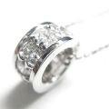 【4月の誕生石】 K18ホワイトゴールド ダイヤモンドペンダント P239-D