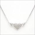 【即日発送可!煌めくダイヤモンドハートが素敵です♪】 K18ホワイトゴールド ダイヤモンド ペンダント PNWG020SAB