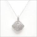 【即日発送可!煌めく全面ダイヤモンド♪】 K18ホワイトゴールド ダイヤモンド ペンダント PNWG033SAF