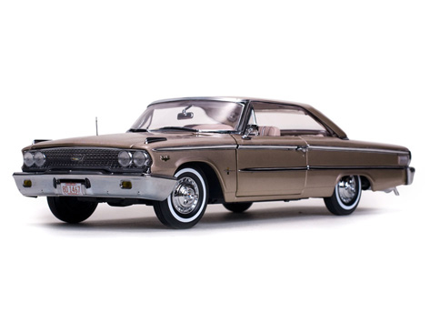 SunStar/サンスター フォード ギャラクシー 500 XL ハードトップ 1963 ピーコックローズ ベージュブルー