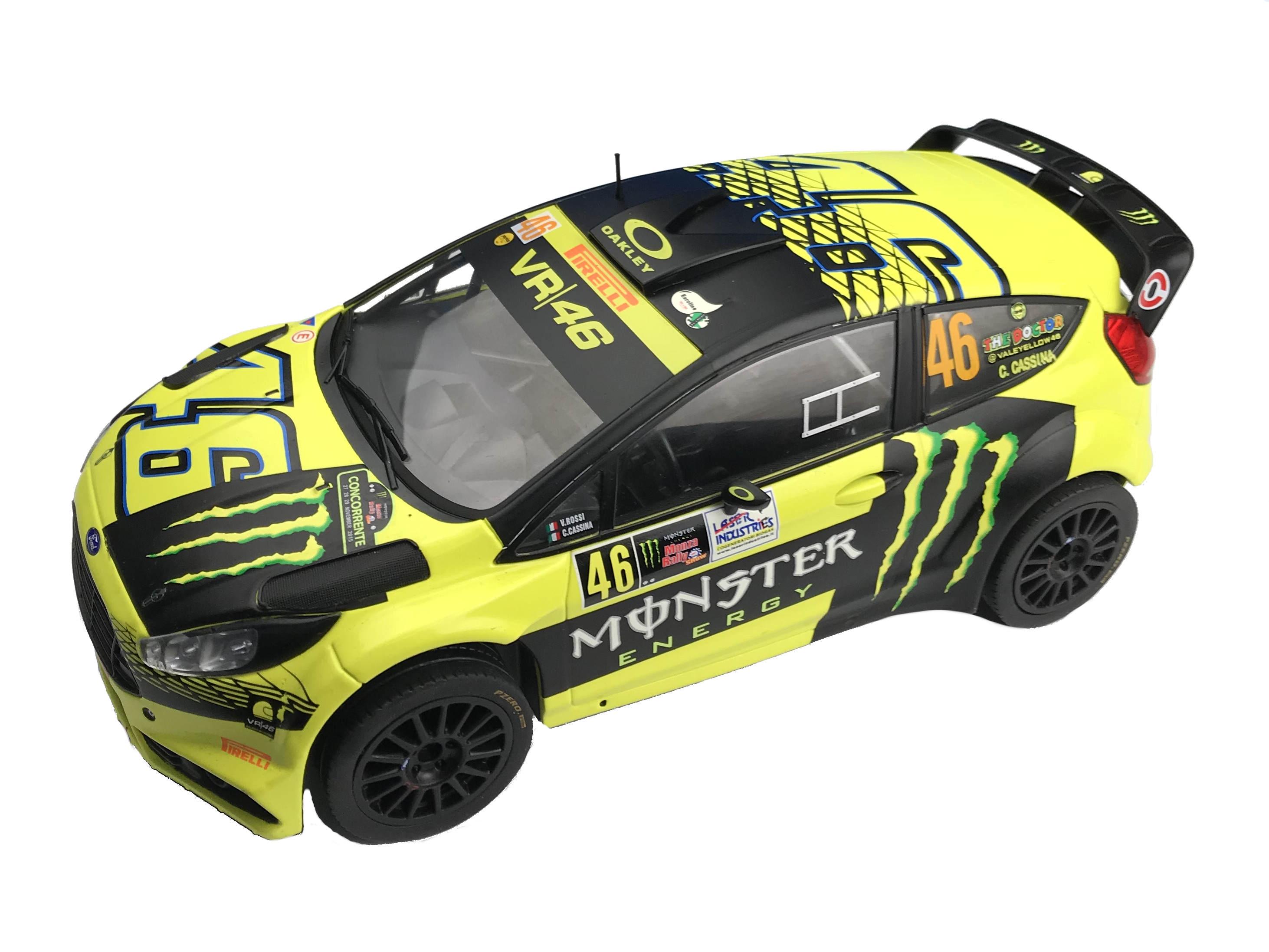 ixo/イクソ フォード フィエスタ RS WRC 2015 ラリー・モンツァ 優勝 #46 V.ROSSI C.CASSINA