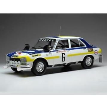 ixo/イクソ プジョー 504 Ti  1975 ラリー・モロッコ  優勝  #6 H.Mikkola / J.Todt