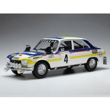 ixo/イクソ プジョー 504 Ti  1975 ラリー・モロッコ #4 T.Makinen / H.Liddon