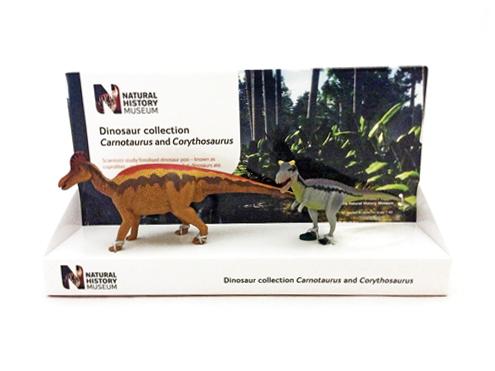 POCKETBOND/ポケットボンド 英国自然史博物館 カルノタウルス & コリトサウルス(14cm & 21cm)