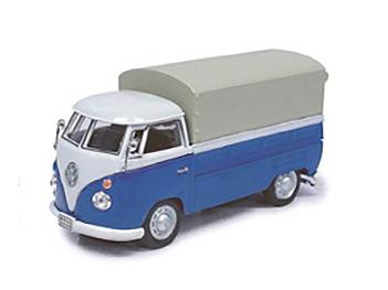 Cararama/カララマ VW T1 ピックアップ  幌付 ホワイト/ブルー