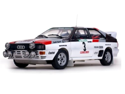 SunStar/サンスター アウディ クアトロ A1 1983年ラリー・ポルトガル 優勝  #3