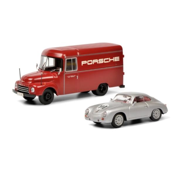 Schuco/シュコー オペル ブリッツ ポルシェレーシングサービス&ポルシェ 356 セット