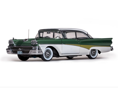 SunStar/サンスター フォード フェアレーン 500 ハードトップ 1958 ホワイト/Silvertone グリーン