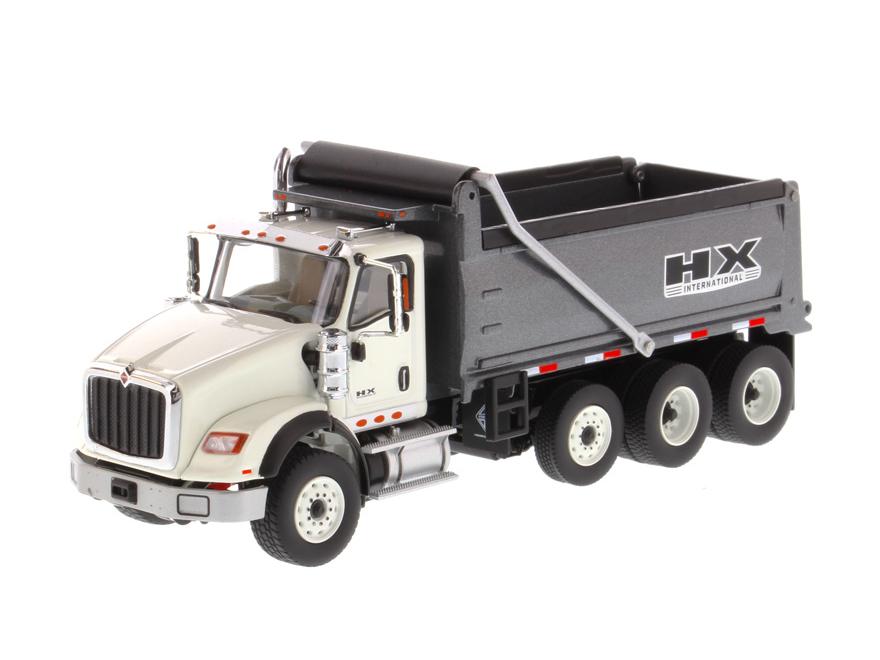 DIECAST MASTERS インターナショナル HX620 ダンプトラック ホワイト/ガンメタル