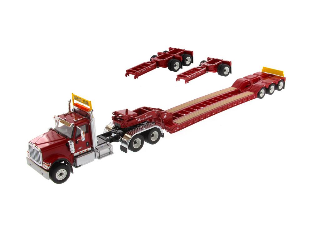 DIECAST MASTERS インターナショナル HX520 Tandem トラクター XL 120 トレーラー付  リアブースター2種付 レッド