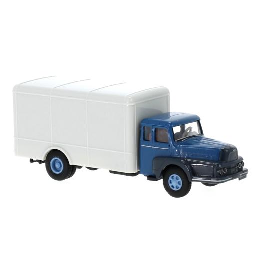 BREKINA/ブレキナ Unic to 122 ボックスワゴン 1957 ブルー/グレー