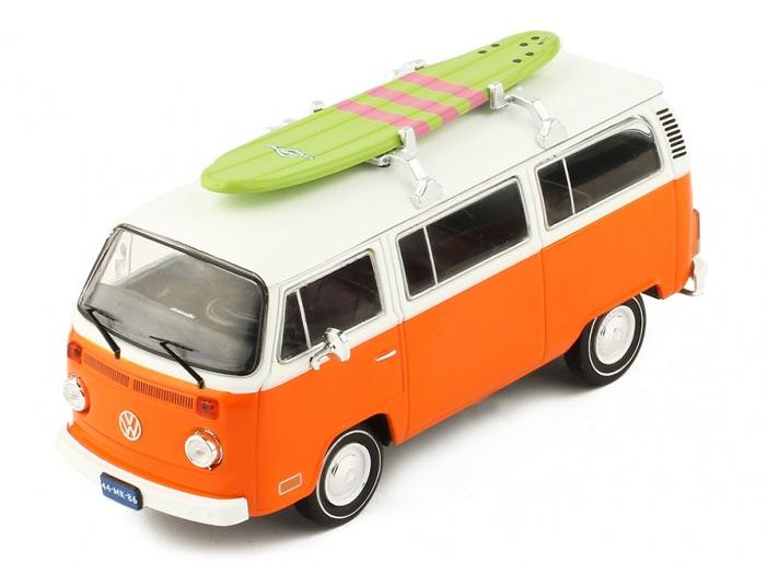 ixo/イクソ VW T2 Kombi 1975 オレンジ/ホワイト サーフボード付き