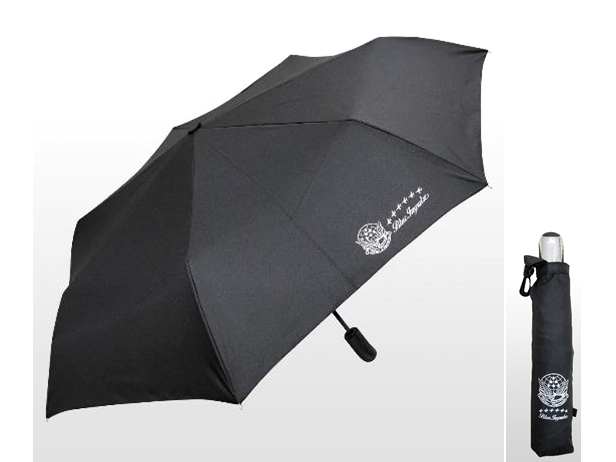 藤井 ブルーインパルス ジャンプ式 折りたたみ傘 ブラック