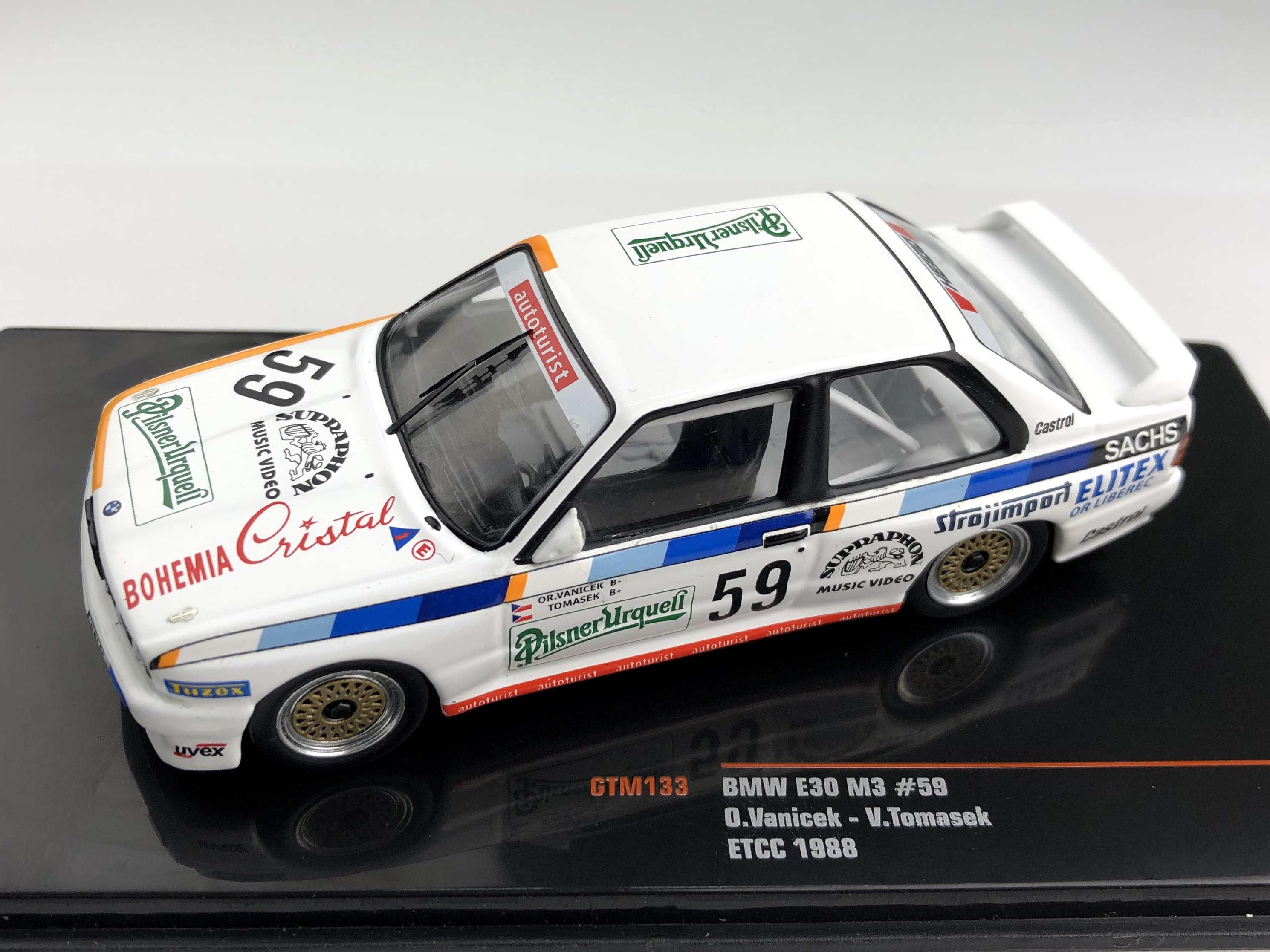 ixo/イクソ BMW E30 M3 1988年ETCC #59 O.Vanicek / V. Tomasek