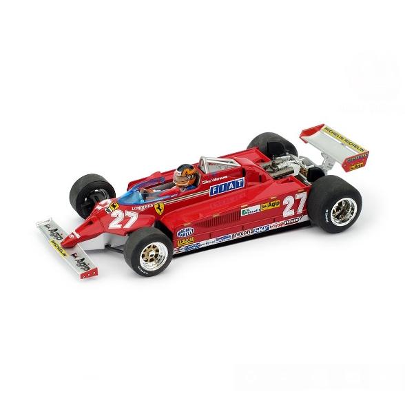 BRUMM/ブルム フェラーリ 126CK ターボ 1981モンテカルロGP優勝 #27 G.Villeneuve フィギュア付