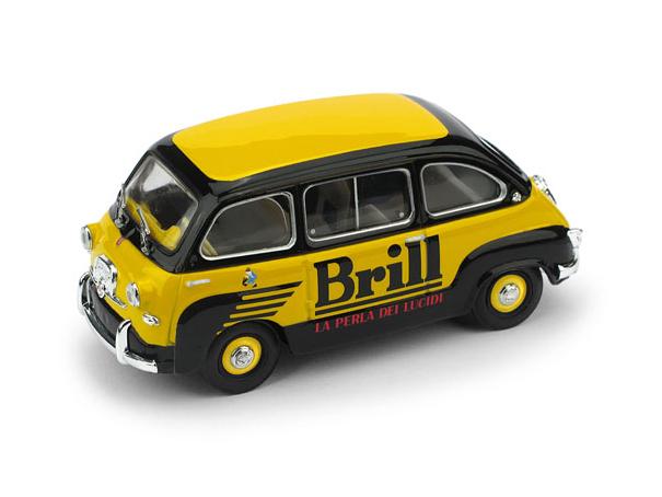 """BRUMM/ブルム フィアット 600 ムルティプラ 1956 """"Brill"""" (イタリアの靴墨メーカー)"""