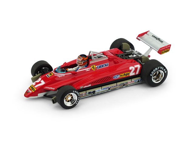 BRUMM/ブルム フェラーリ 126C2 1982年ブラジルGP #27 G. Villeneuve ドライバーフィギュア付
