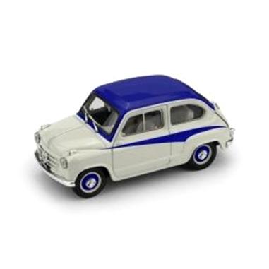 BRUMM/ブルム フィアット 600 DERIVAZIONE ABARTH 750 1956  グレー/ブルー