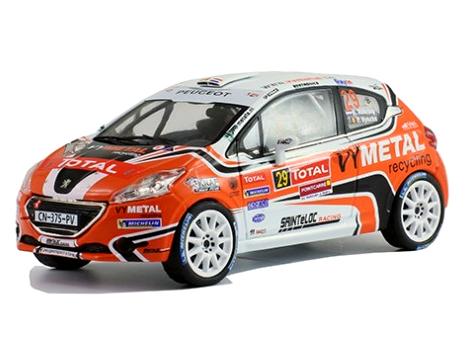 ixo/イクソ プジョー 208 R2 2013年Rallye du Condroz #29 champion 208 R2 cup