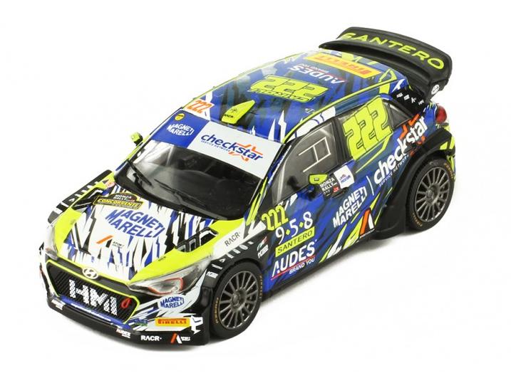 ixo/イクソ ヒュンダイ I NG I20 WRC 2018年ラリー・ショー #222 A.Cairoli/E.Mori