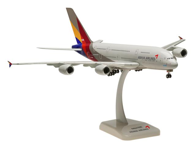 HoganWings/ホーガンウイングス A380-800 アシアナ航空 ランディングギア/スタンド付き