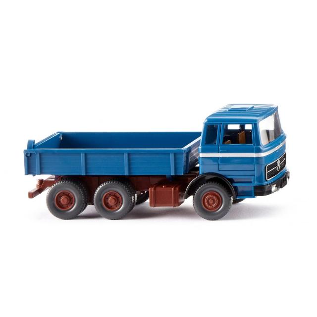 WIKING/ヴィーキング MB フラットベッド ダンプカー  azure ブルー