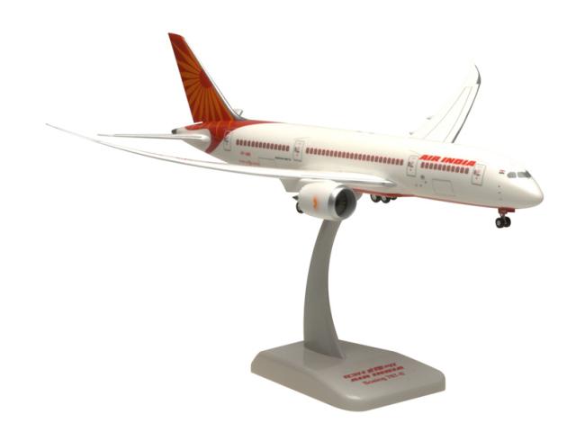 HoganWings/ホーガンウイングス B787-8 エアインディア 飛行姿勢スタンド付属
