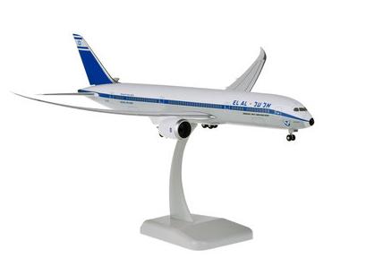 HoganWings/ホーガンウイングス B787-9 エル・アル航空 レトロカラー ランディングギア&スタンド付属