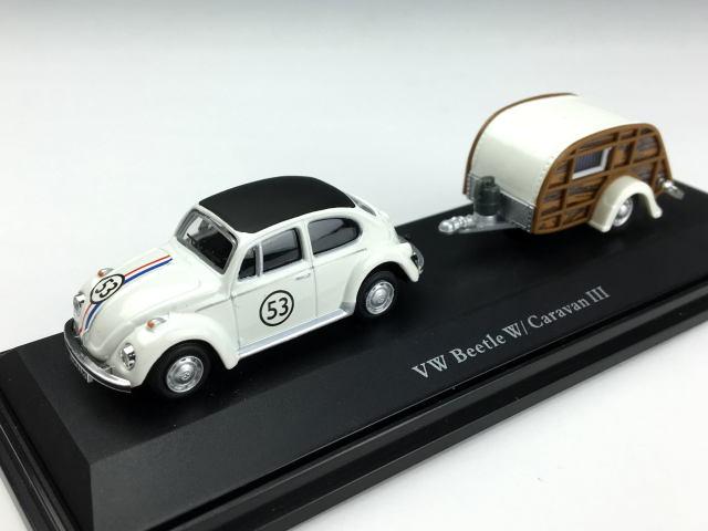 Cararama/カララマ VW ビートル #53 キャンピングカー付 レーシングクリーム