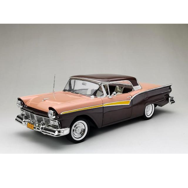 SunStar/サンスター フォード フェアレーン 500 スカイライナー 1957 シルバーモカ/コーラルサンド