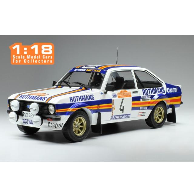 ixo/イクソ フォード エスコート MKII RS 1800 1980年ラリー・サンレモ #4 A.Vatanen/D.Richards
