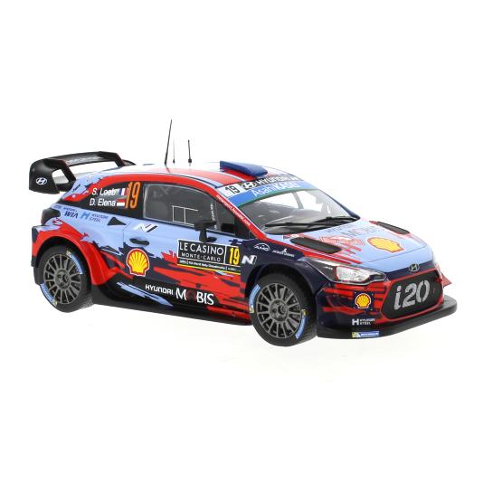 ixo/イクソ ヒュンダイ i20 クーペ WRC 2019年モンテカルロラリー #19 S.Loeb / D.Elena