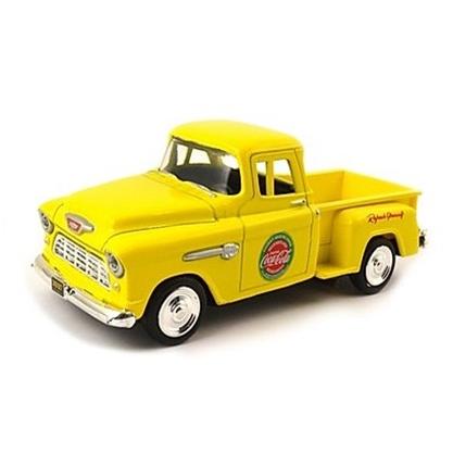 Coca-Cola シボレー ステップサイド ピックアップ 1955 イエロー