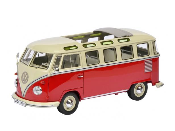 Schuco/シュコー VW T1 サンバ ベージュ/レッド