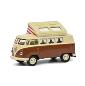 Schuco/シュコー VW T1 Camper ベージュ/ブラウン