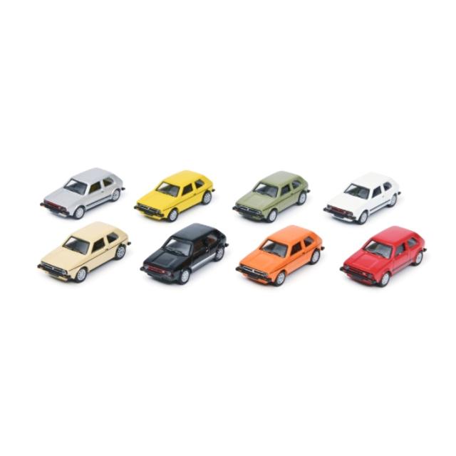 Schuco/シュコー VW ゴルフ 8色8台セット