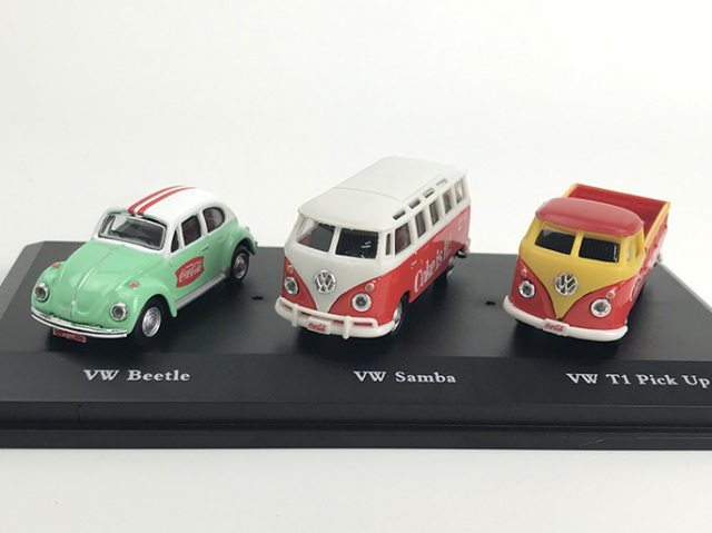Coca-Cola VW ギフトセット 1962サンバ &1966ビートル &1962 T1 ピックアップ