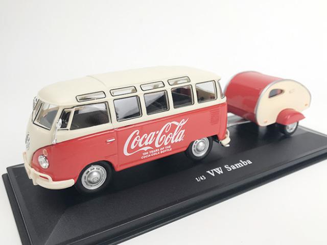 Coca-Cola VW サンバ バス 1962 トレーラー付