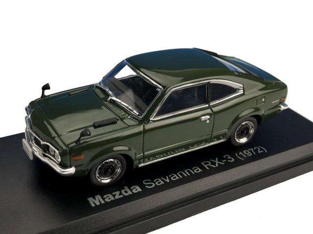 NOREV J/ノレブジェイ MAZDA SAVANNA RX-3 COUPE 1972年 ダークグリーン