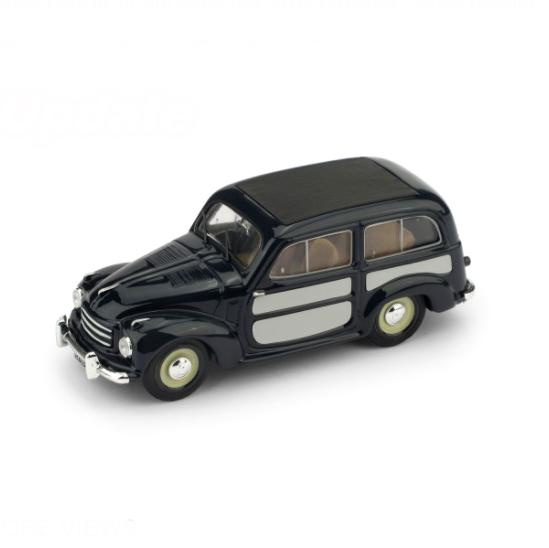 BRUMM/ブルム フィアット 500C BELVEDERE 1951 ブルー/ライトグレー クローズド