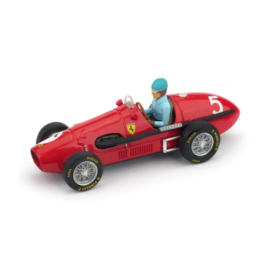 BRUMM/ブルム フェラーリ 500  F2 1953 イギリスGP 優勝 #5 A.Ascari ドライバーフィギュア付