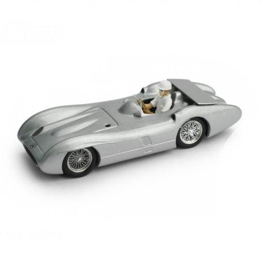 BRUMM/ブルム メルセデス W196C 1955 モンツァ高速リンク テストカー  Stirling Moss フィギュア付