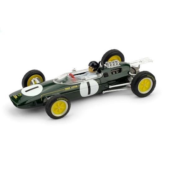 BRUMM/ブルム ロータス 25 1963年ベルギーGP 1位  #1 J. Clark  フィギュア付