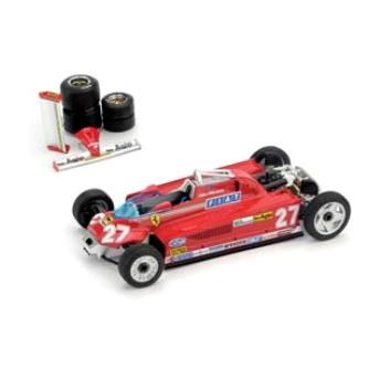 BRUMM/ブルム フェラーリ 126 CK turbo 1981モナコGP 優勝 #27 トランスポートVer. タイヤセット