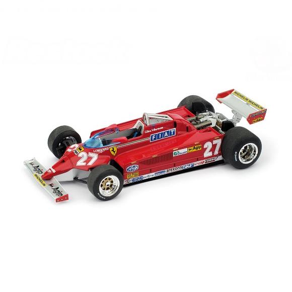 BRUMM/ブルム フェラーリ 126CK ターボ 1981モンテカルロGP優勝 #27 G.Villeneuve